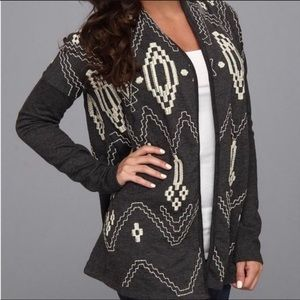Lucky Bliss Aztec Embroidered Cardigan